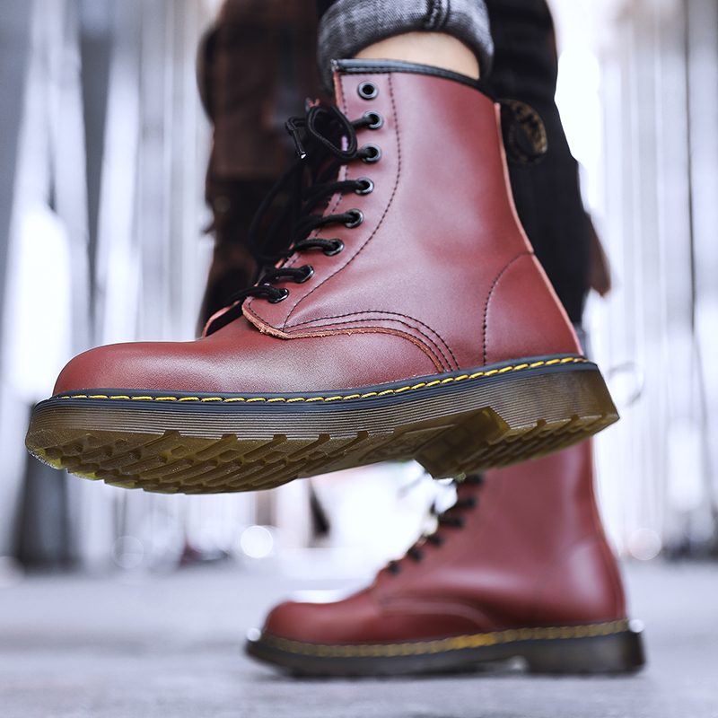 thumbnail 43 - Womens Platform Biker Boots Comfy Black Leather Punk Goth Thick Sole Ankle Shoes