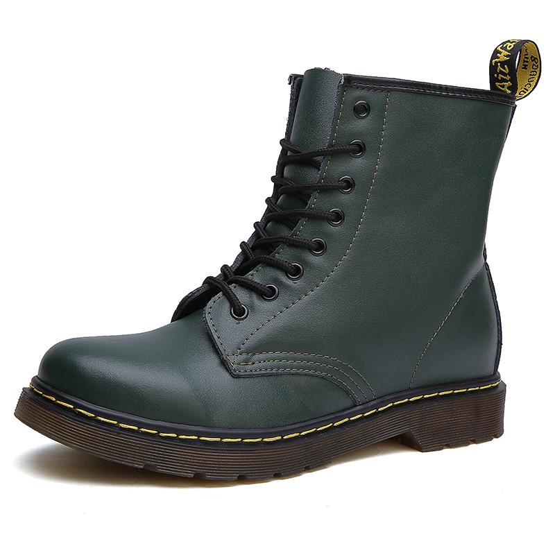 thumbnail 55 - Womens Platform Biker Boots Comfy Black Leather Punk Goth Thick Sole Ankle Shoes