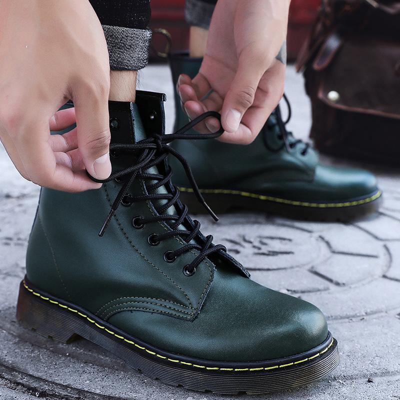 thumbnail 58 - Womens Platform Biker Boots Comfy Black Leather Punk Goth Thick Sole Ankle Shoes