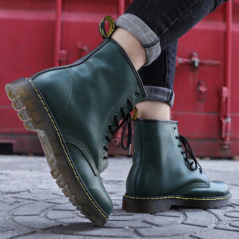 thumbnail 59 - Womens Platform Biker Boots Comfy Black Leather Punk Goth Thick Sole Ankle Shoes