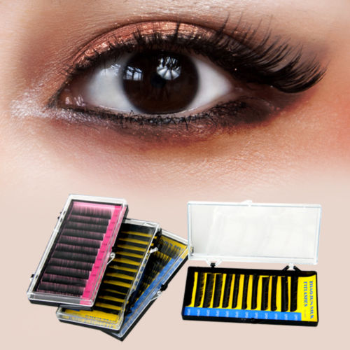 656760af7ee Details about 4 Tray C Curl Curly Individual False Eyelashes Eye Lashes  Extensions Black