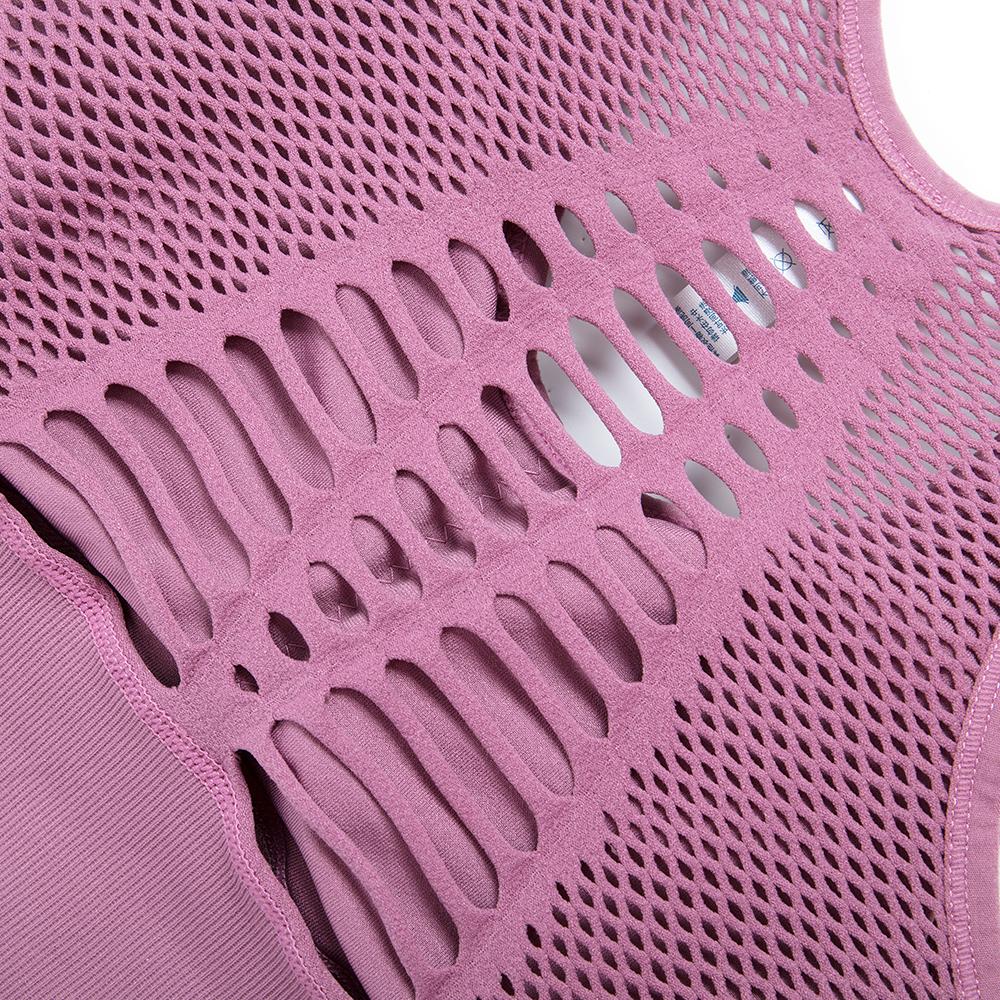 US Breathable High Impact Mesh Openwork Yoga Bra Pink//Black//Blue Sports Workout