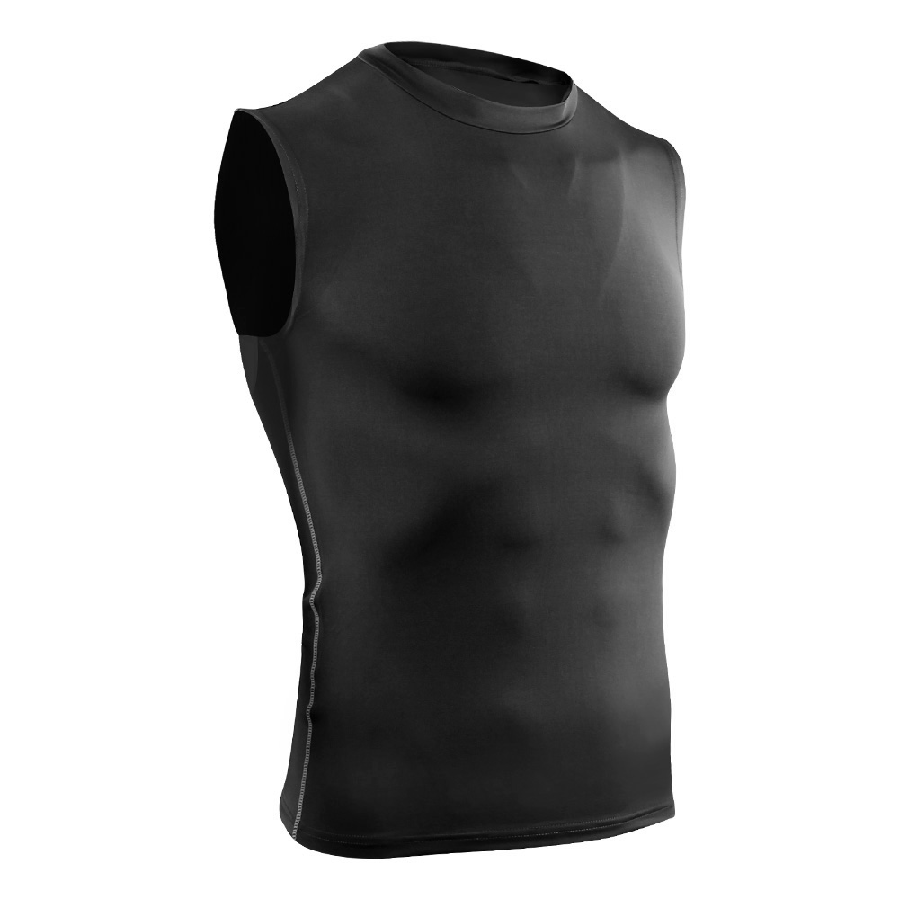 Mens Vest T-Shirt Tank Top Sports Active Wear Base Layer Fitness Gym Sleeveless