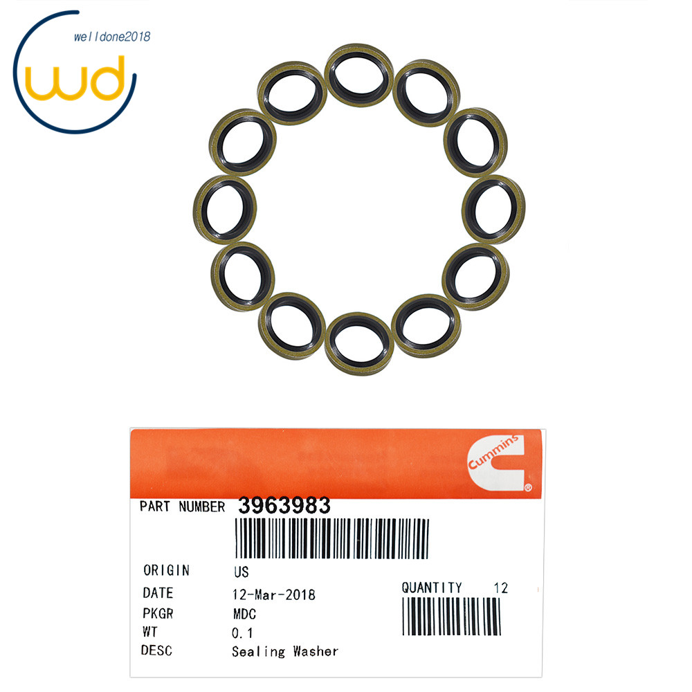 Details about 12mm Seals Fuel Line Sealing Washer 12V 24V 5 9 3963983 (12)  For Cummins