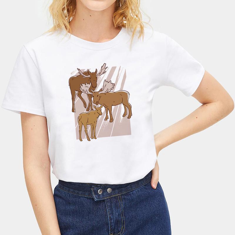 Cute-Animals-Cat-Tee-Summer-O-Neck-Short-Sleeve-T-shirt-Women-Men-Tops-Blouse thumbnail 14