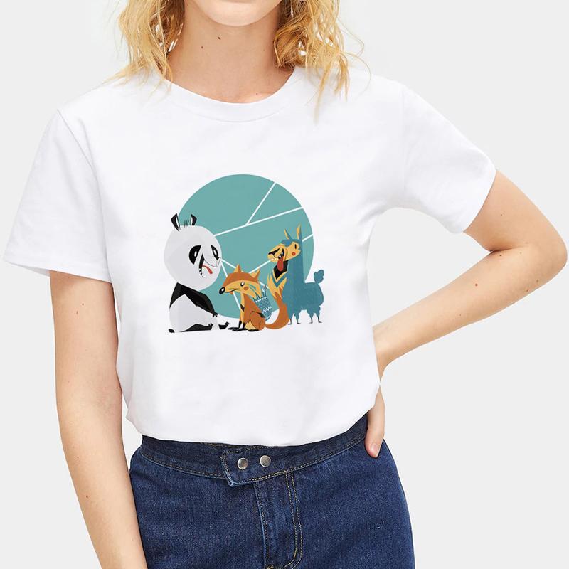 Cute-Animals-Cat-Tee-Summer-O-Neck-Short-Sleeve-T-shirt-Women-Men-Tops-Blouse thumbnail 22