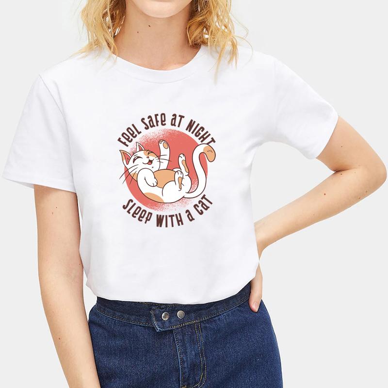 Cute-Animals-Cat-Tee-Summer-O-Neck-Short-Sleeve-T-shirt-Women-Men-Tops-Blouse thumbnail 24