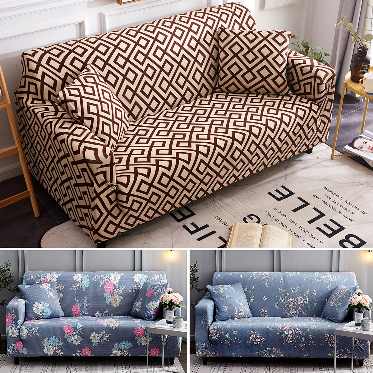 US Sofa Cover Universal Couch Cover Elastic Slipcovers Furniture Covers