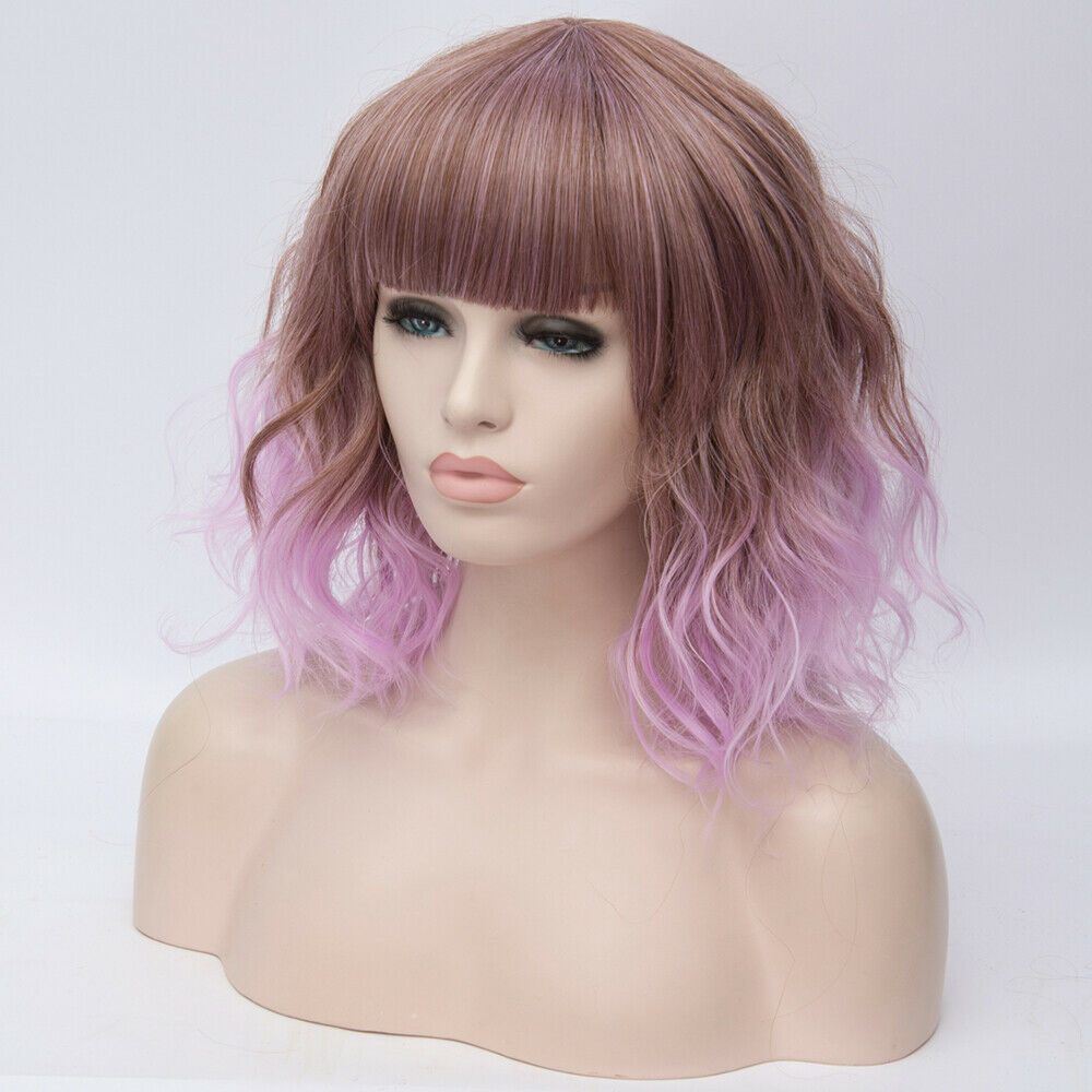 Lolita-Heat-Resistant-Wig-Anime-Short-Curly-Wavy-Synthetic-Hair-Cosplay-Party-US miniature 14