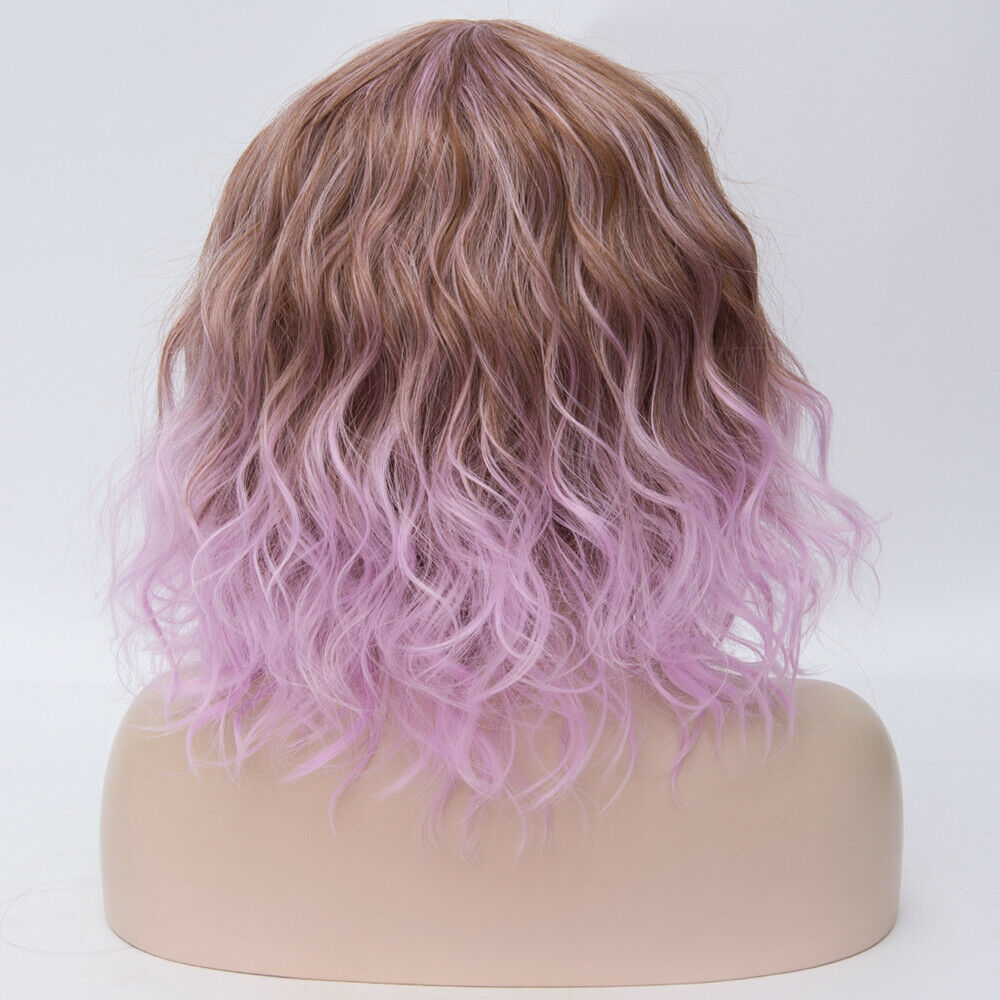 Lolita-Heat-Resistant-Wig-Anime-Short-Curly-Wavy-Synthetic-Hair-Cosplay-Party-US miniature 15