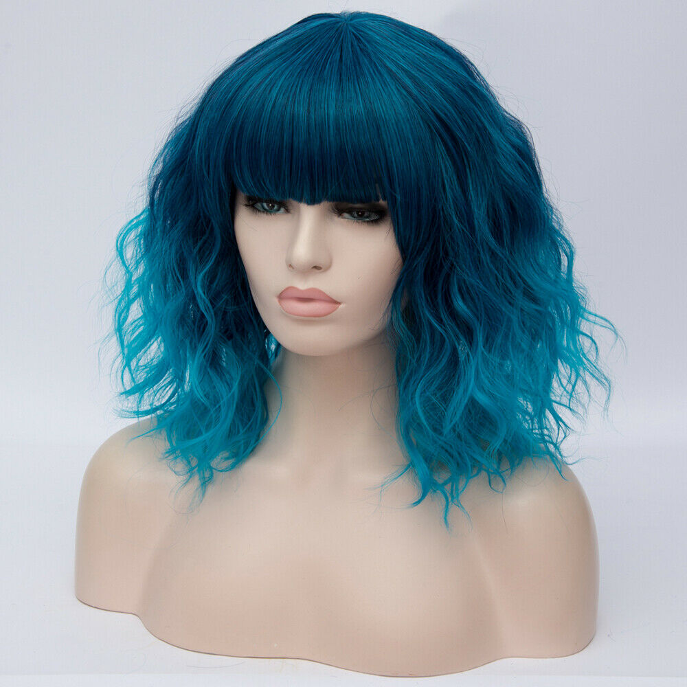 Lolita-Heat-Resistant-Wig-Anime-Short-Curly-Wavy-Synthetic-Hair-Cosplay-Party-US miniature 17