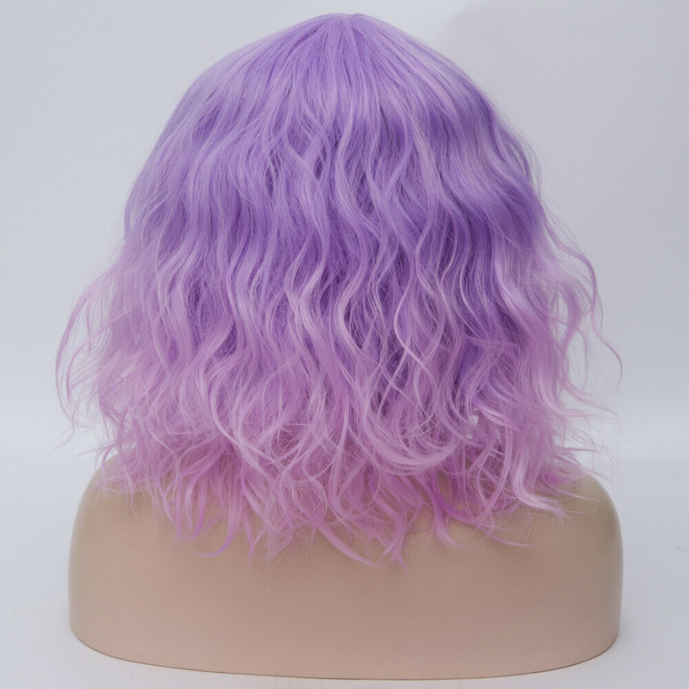 Lolita-Heat-Resistant-Wig-Anime-Short-Curly-Wavy-Synthetic-Hair-Cosplay-Party-US miniature 21