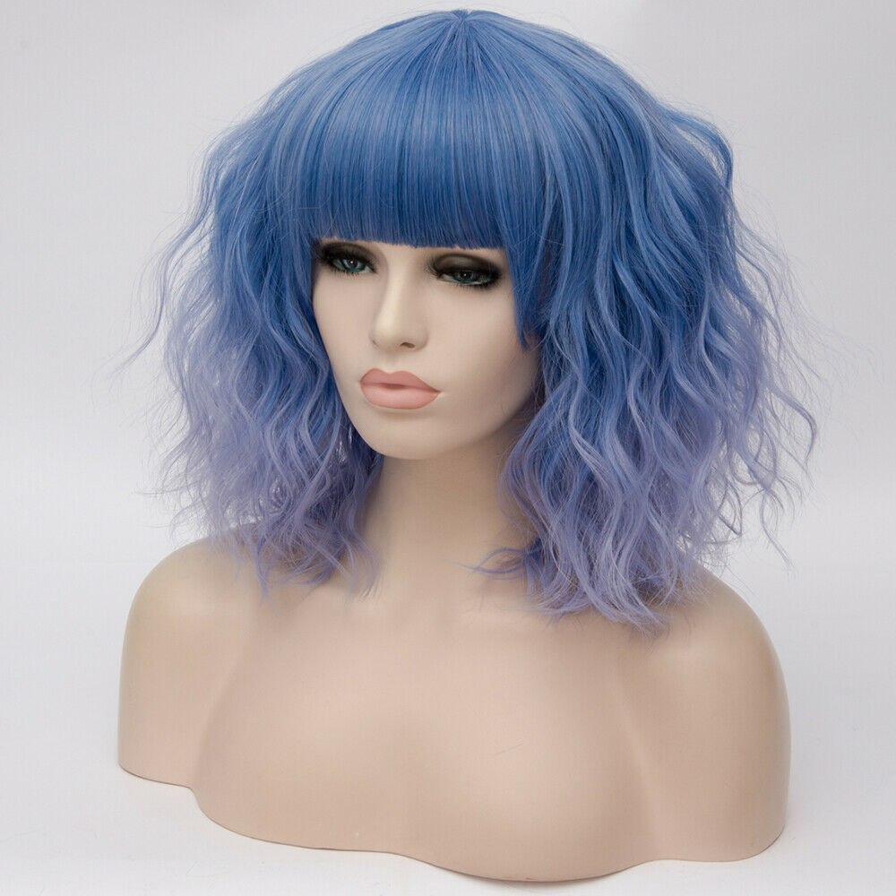 Lolita-Heat-Resistant-Wig-Anime-Short-Curly-Wavy-Synthetic-Hair-Cosplay-Party-US miniature 26