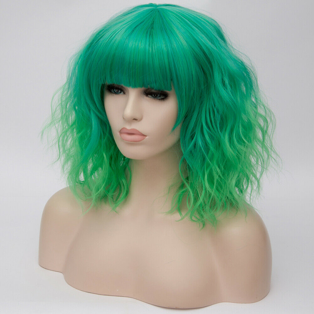 Lolita-Heat-Resistant-Wig-Anime-Short-Curly-Wavy-Synthetic-Hair-Cosplay-Party-US miniature 29