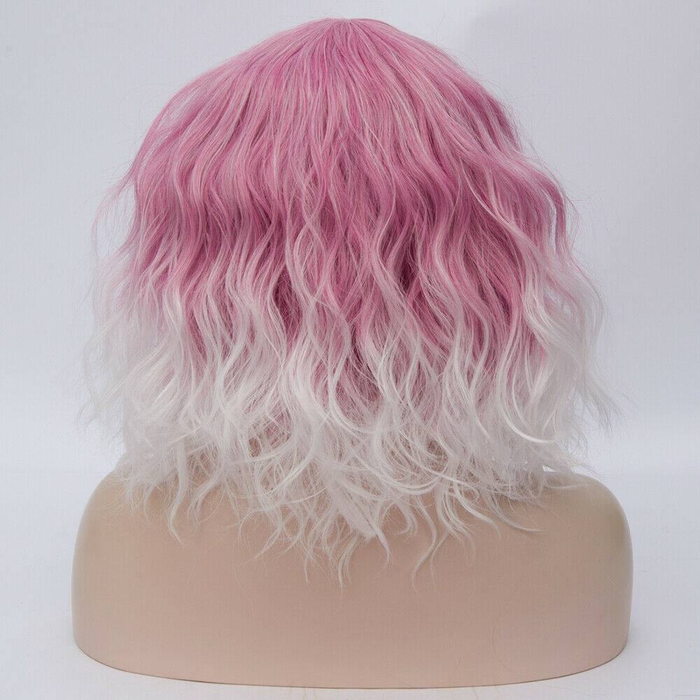Lolita-Heat-Resistant-Wig-Anime-Short-Curly-Wavy-Synthetic-Hair-Cosplay-Party-US miniature 33