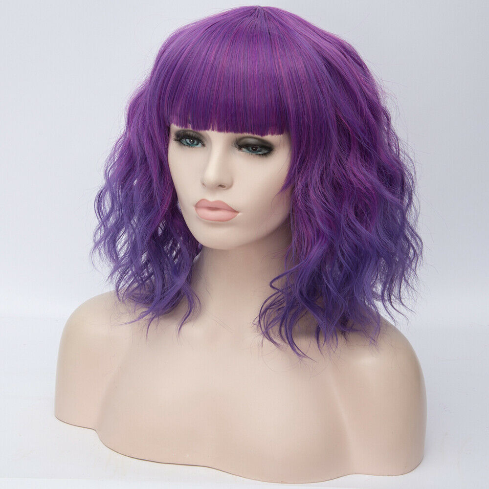 Lolita-Heat-Resistant-Wig-Anime-Short-Curly-Wavy-Synthetic-Hair-Cosplay-Party-US miniature 35