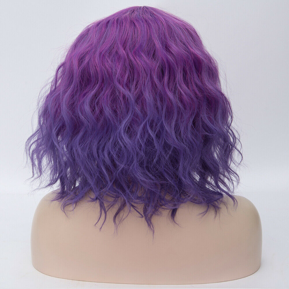 Lolita-Heat-Resistant-Wig-Anime-Short-Curly-Wavy-Synthetic-Hair-Cosplay-Party-US miniature 36