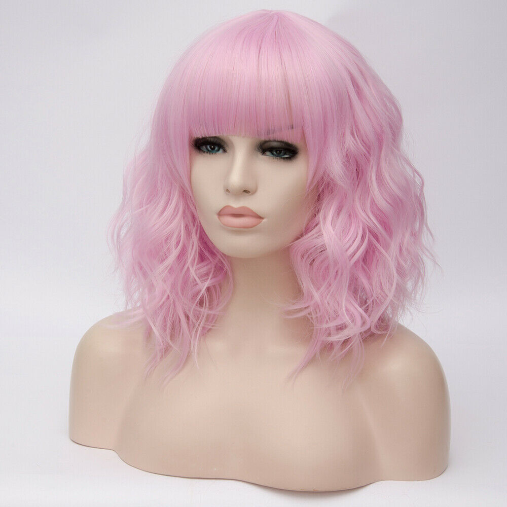 Lolita-Heat-Resistant-Wig-Anime-Short-Curly-Wavy-Synthetic-Hair-Cosplay-Party-US miniature 41