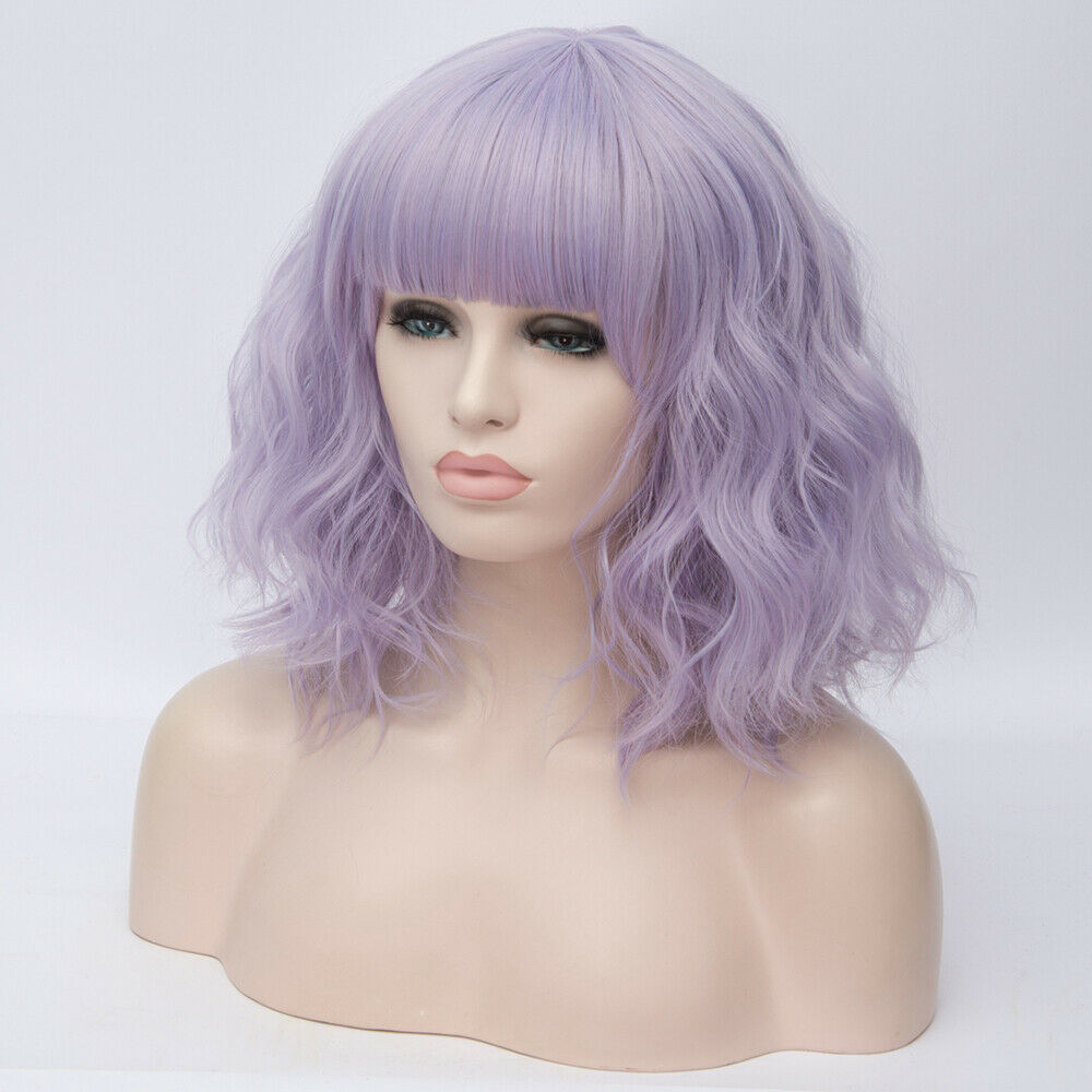 Lolita-Heat-Resistant-Wig-Anime-Short-Curly-Wavy-Synthetic-Hair-Cosplay-Party-US miniature 50