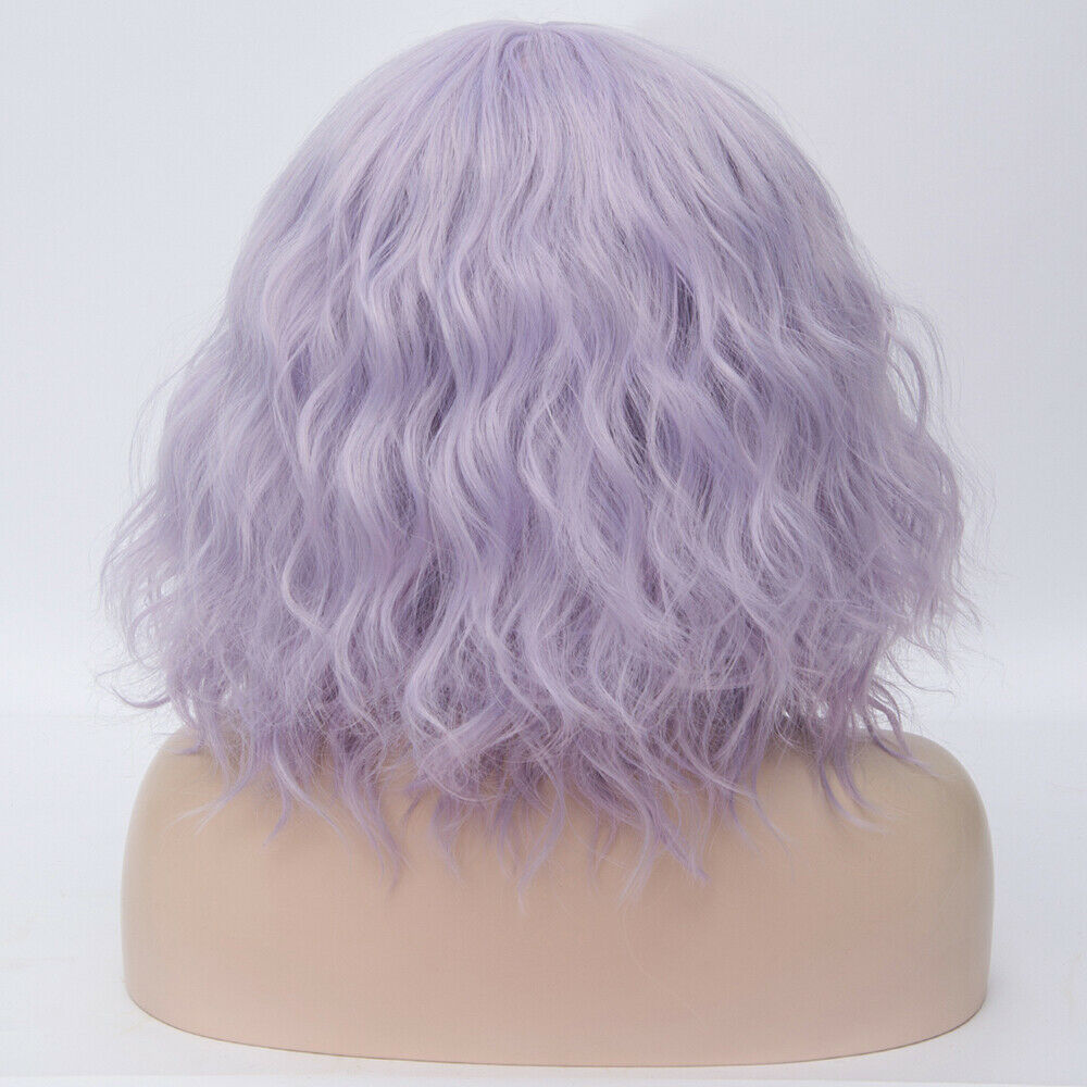 Lolita-Heat-Resistant-Wig-Anime-Short-Curly-Wavy-Synthetic-Hair-Cosplay-Party-US miniature 51