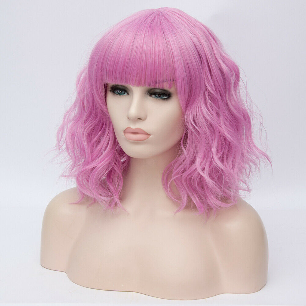 Lolita-Heat-Resistant-Wig-Anime-Short-Curly-Wavy-Synthetic-Hair-Cosplay-Party-US miniature 56
