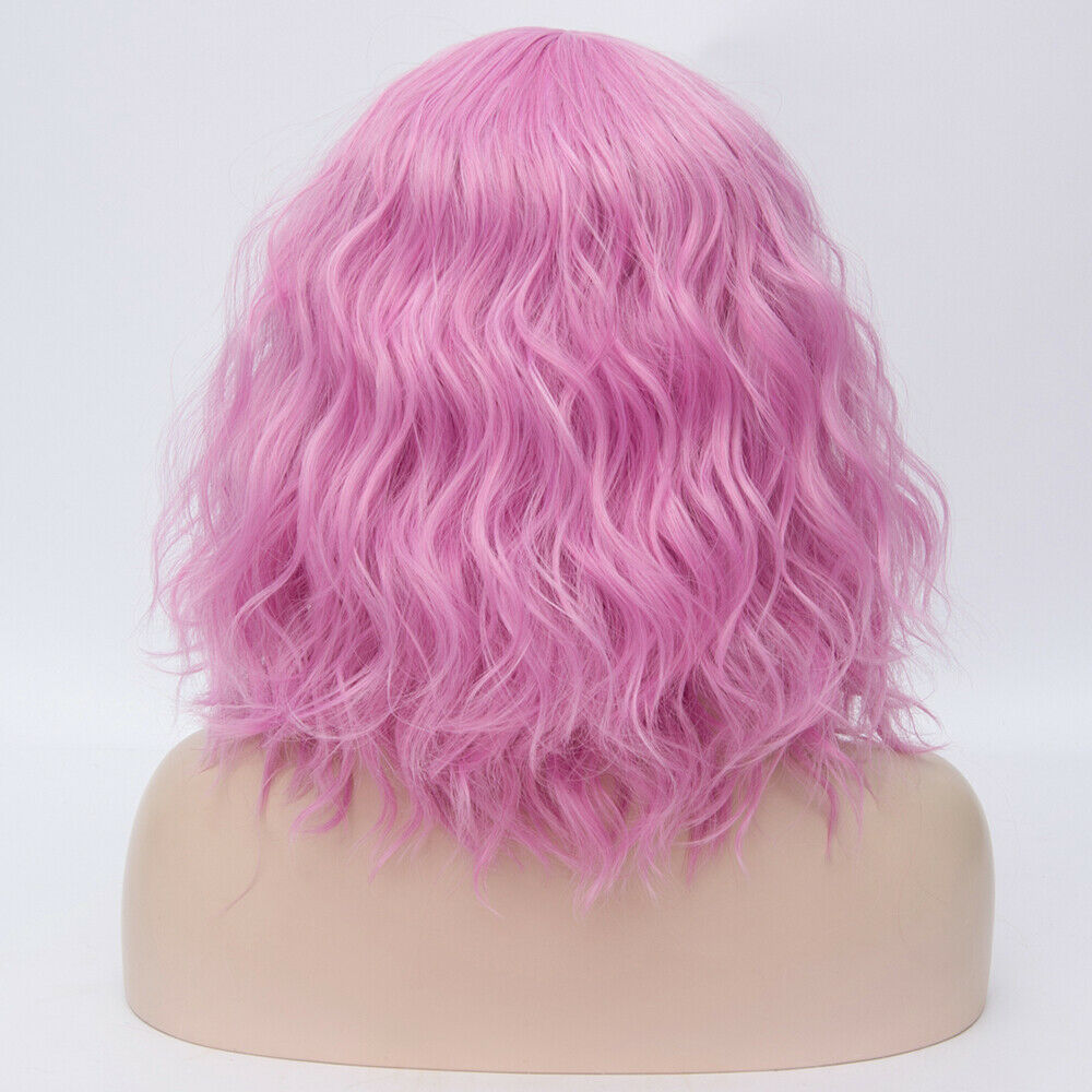 Lolita-Heat-Resistant-Wig-Anime-Short-Curly-Wavy-Synthetic-Hair-Cosplay-Party-US miniature 57