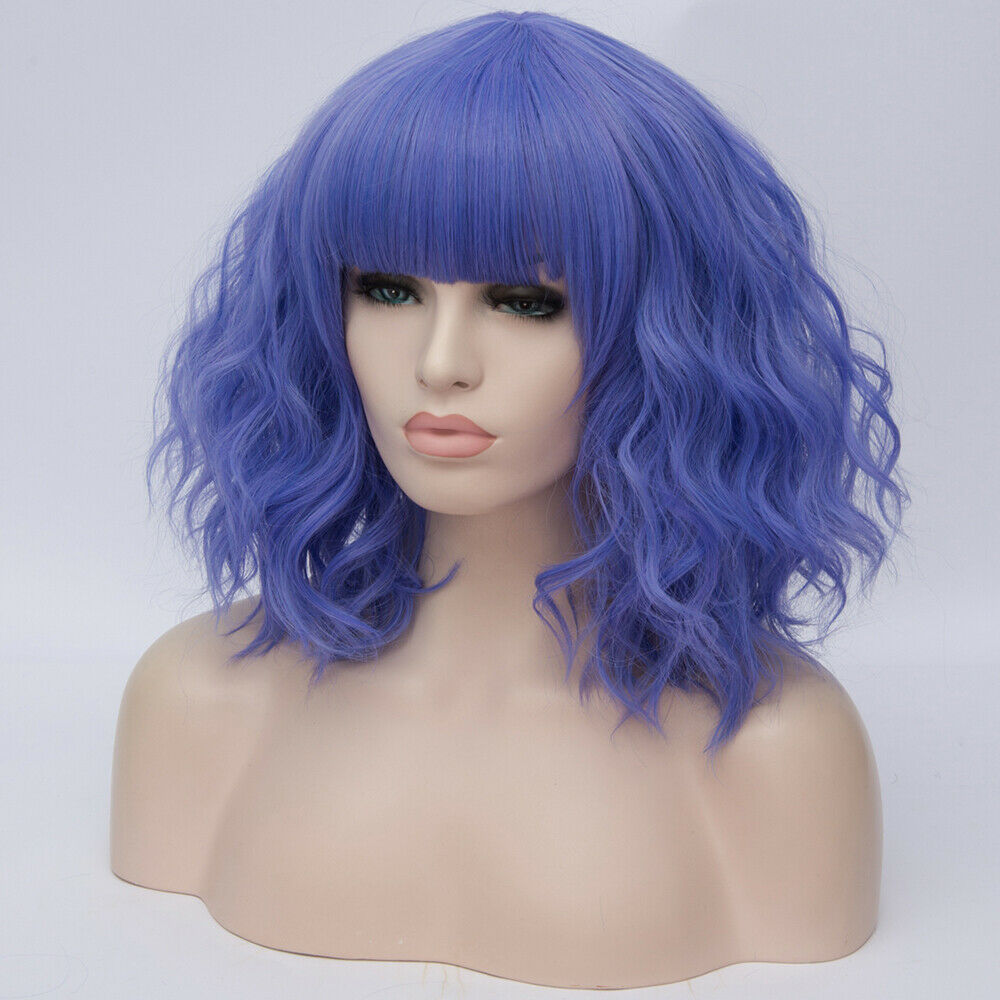 Lolita-Heat-Resistant-Wig-Anime-Short-Curly-Wavy-Synthetic-Hair-Cosplay-Party-US miniature 59