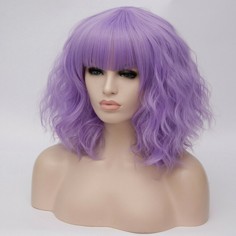 Lolita-Heat-Resistant-Wig-Anime-Short-Curly-Wavy-Synthetic-Hair-Cosplay-Party-US miniature 62