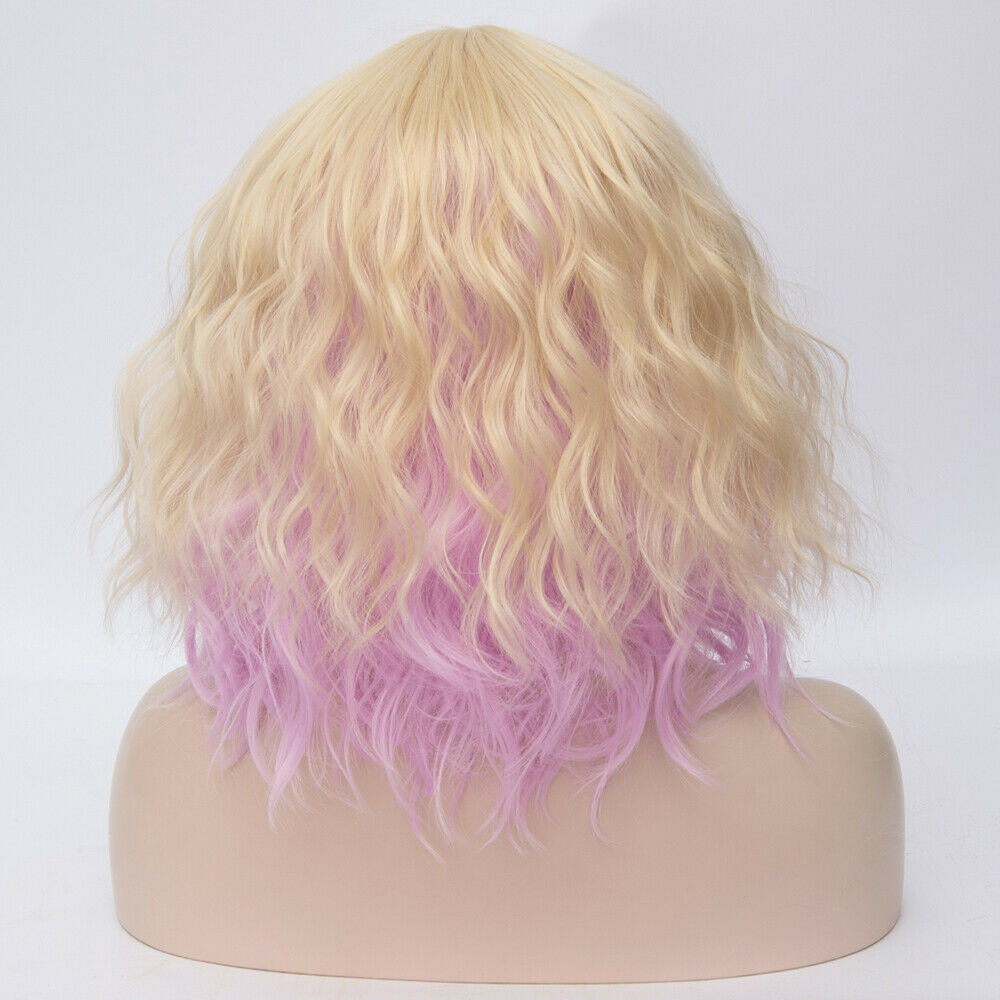 Lolita-Heat-Resistant-Wig-Anime-Short-Curly-Wavy-Synthetic-Hair-Cosplay-Party-US miniature 69