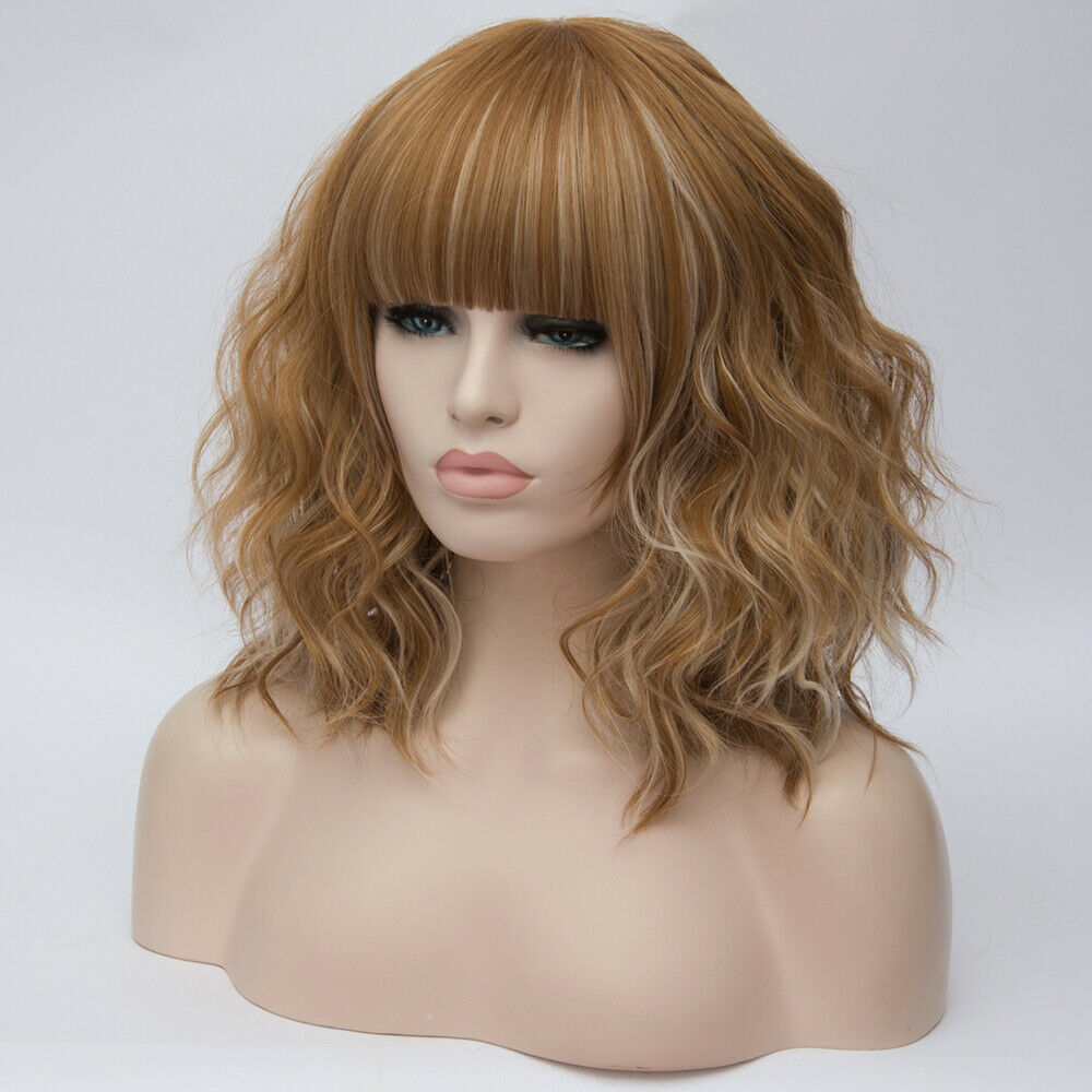 Lolita-Heat-Resistant-Wig-Anime-Short-Curly-Wavy-Synthetic-Hair-Cosplay-Party-US miniature 71