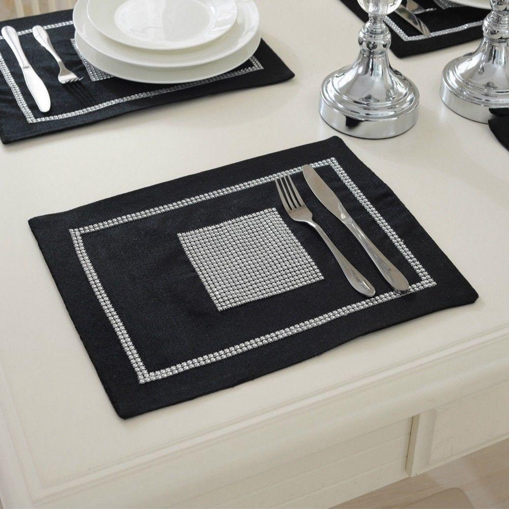 STRASS-Table-Runner-sets-de-table-epais-velours-chenille-Mariage-Noel-Fete-Decor miniature 22