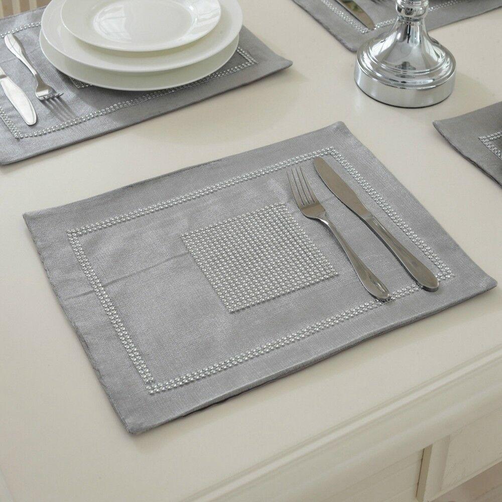 STRASS-Table-Runner-sets-de-table-epais-velours-chenille-Mariage-Noel-Fete-Decor miniature 26