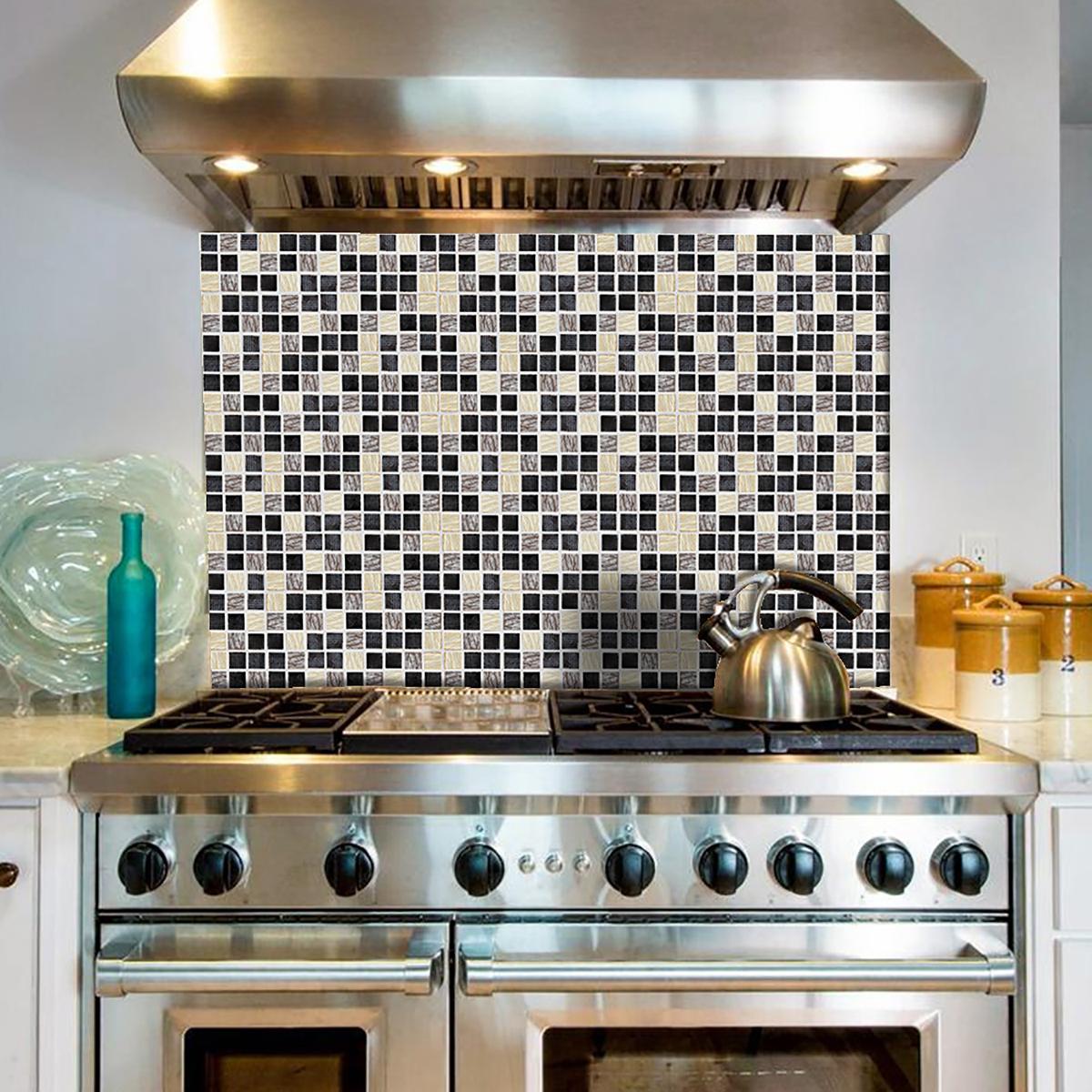 180Pcs Kitchen Tile Stickers Bathroom Mosaic Sticker Self ...