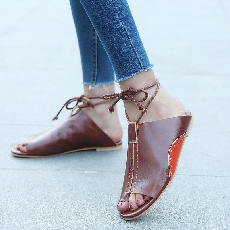 thumbnail 24 - Womens Fashion Flat Sandals Slippers Summer Beach Shoes Ankle Strap Flip Flops