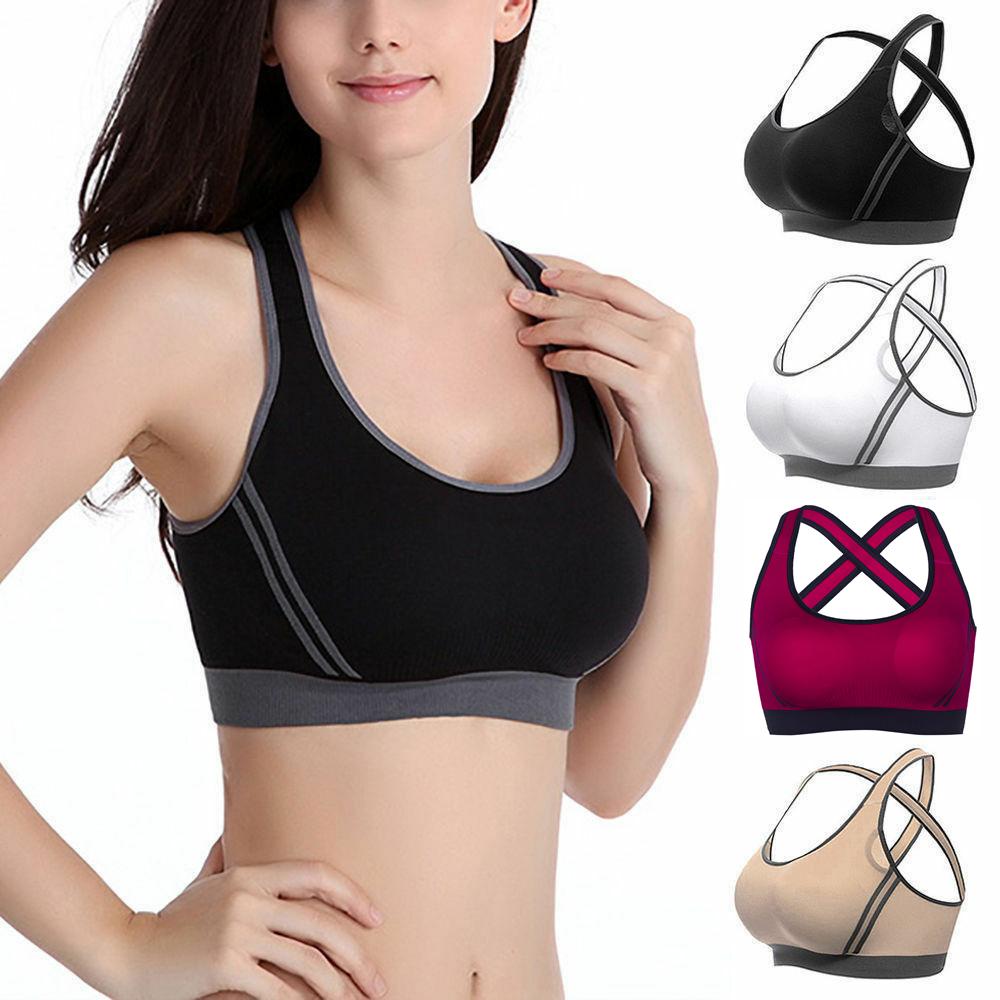 US Women's Gym Sports Yoga Bra Vest Fitness Workout Activewe