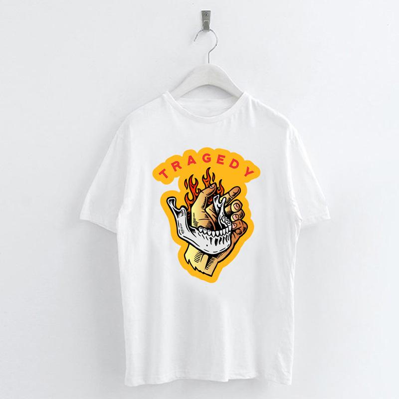Fashion-Summer-Devil-Print-T-Shirt-White-Short-Sleeve-Casual-Tees-Soft-Tops thumbnail 24