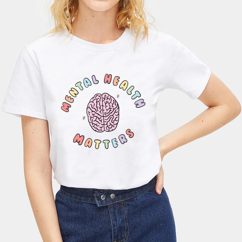Fashion-Summer-Devil-Print-T-Shirt-White-Short-Sleeve-Casual-Tees-Soft-Tops thumbnail 51