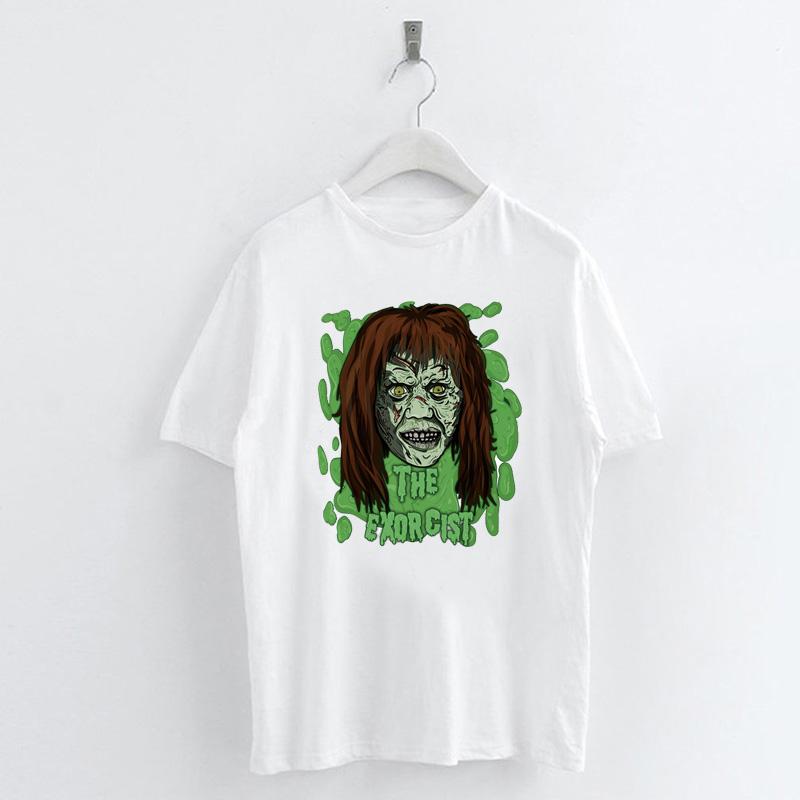 Fashion-Summer-Devil-Print-T-Shirt-White-Short-Sleeve-Casual-Tees-Soft-Tops thumbnail 56