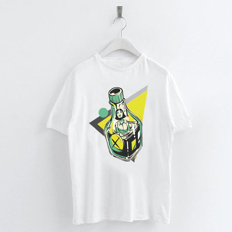 Fashion-Summer-Devil-Print-T-Shirt-White-Short-Sleeve-Casual-Tees-Soft-Tops thumbnail 66