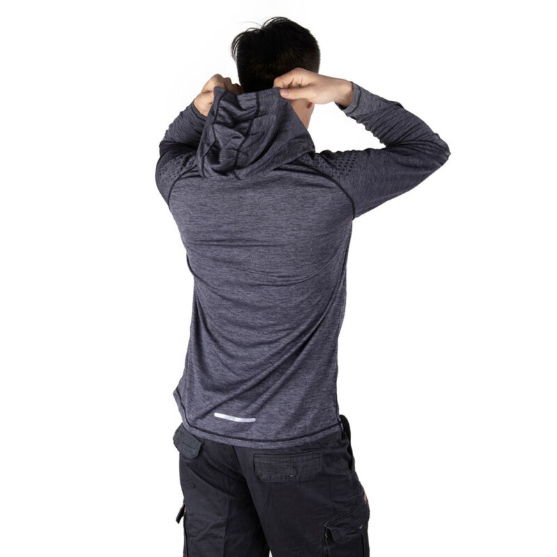 Men-039-s-Hoodie-Long-Sleeve-Shirts-Sweatshirt-Gym-Muscle-Tops-Casual-T-shirt-US-NCK thumbnail 19