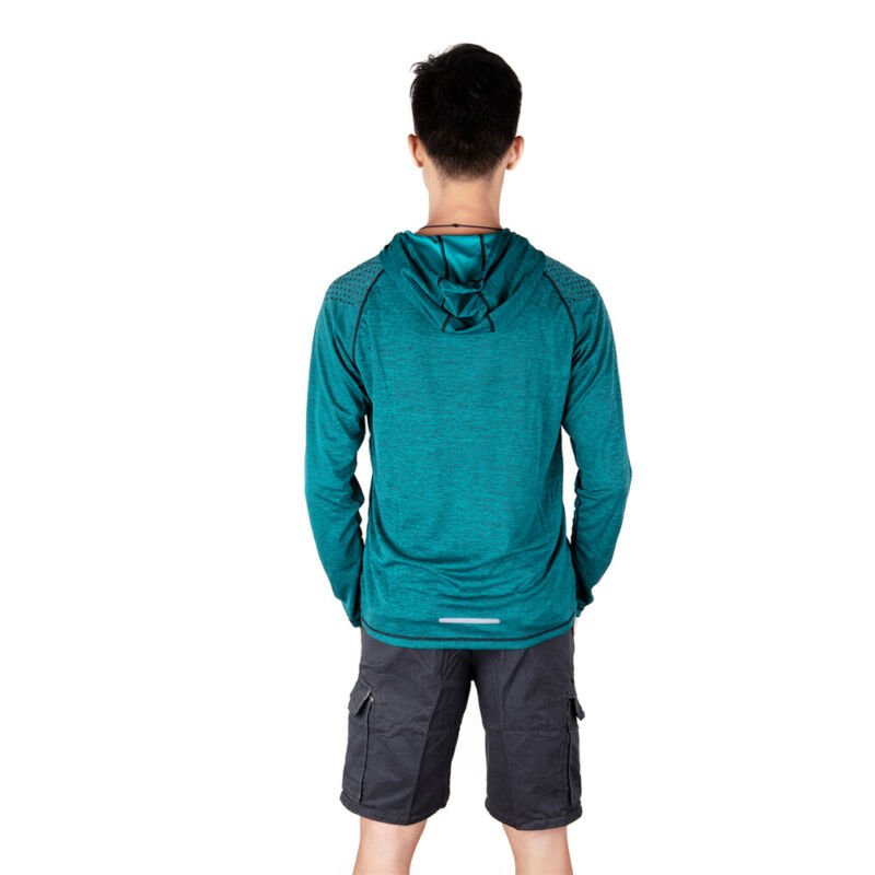 Men-039-s-Solid-Hoodie-Long-Sleeve-Shirts-Sweatshirt-Gym-Muscle-Tops-T-shirt-S-2XL miniatura 23