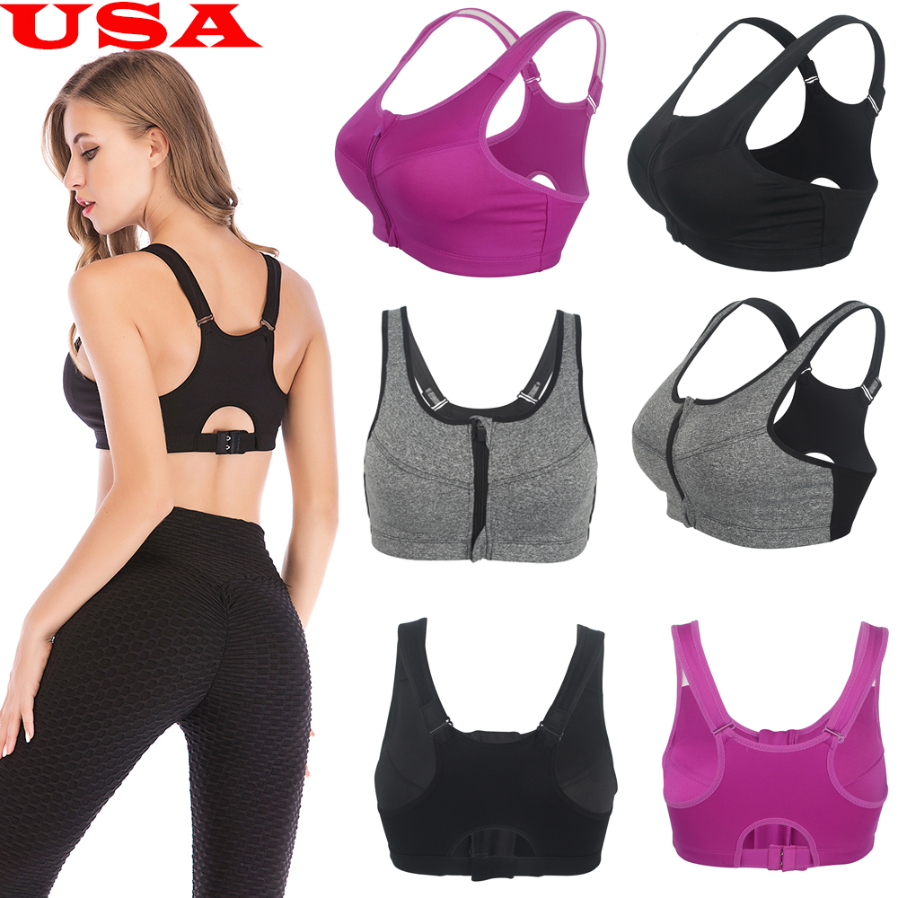 Fit Bee Happy Summer Bear Padded Sports Bras Summer Yoga Workout Crop Tank Top