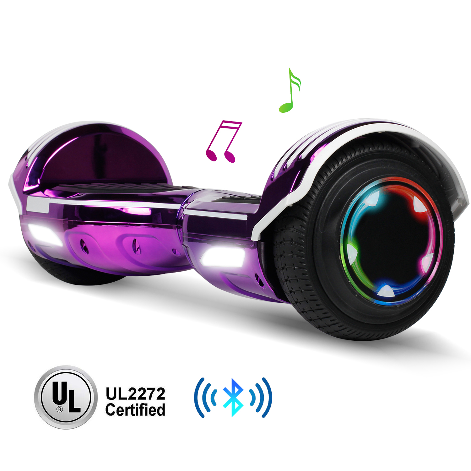Bluetooth Hoverboard for Kids LED Sidelight Self Balancing E