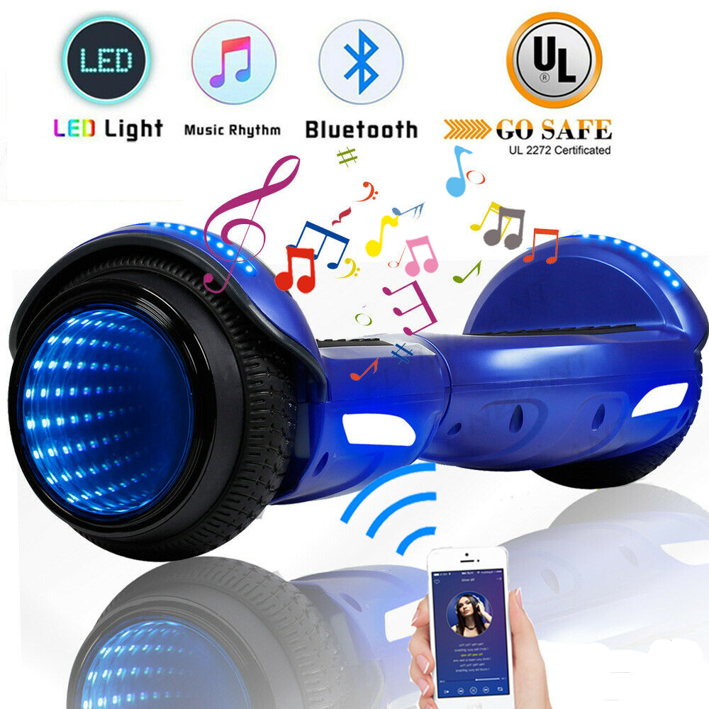 """6.5/"""" Hoverboard Bluetooth Electric Self Balance Scooter Bag Tunnel LED Girl Gift"""