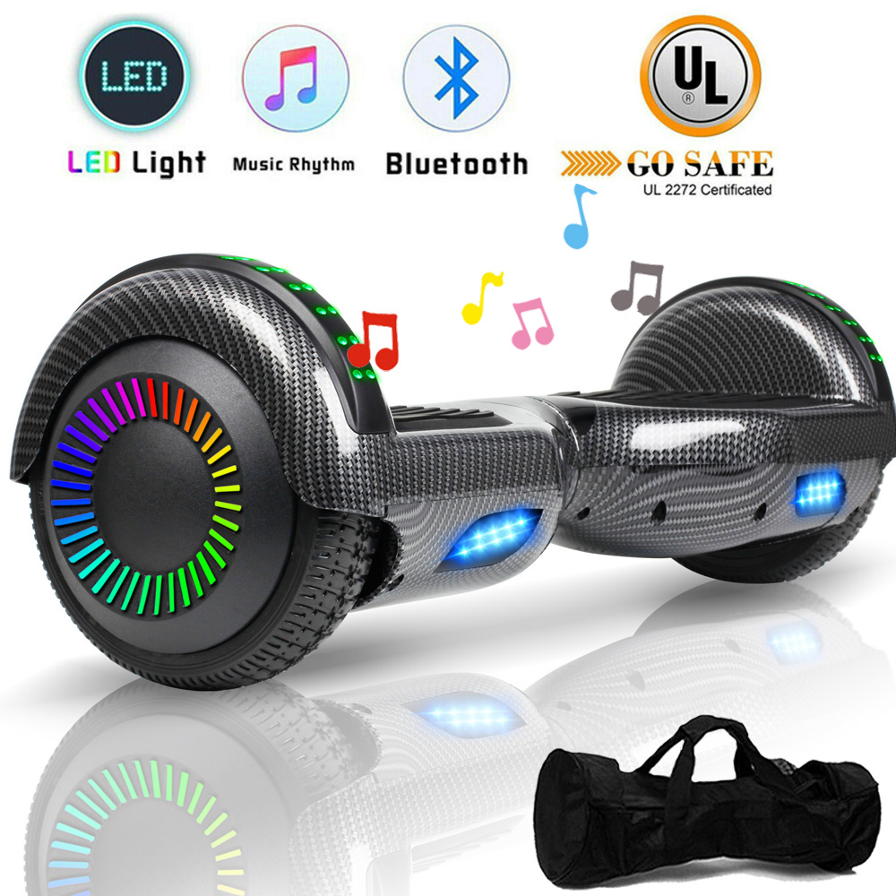 """6.5"""" Hoverboard Self Balancing LED Electric Scooter Hover Bo"""