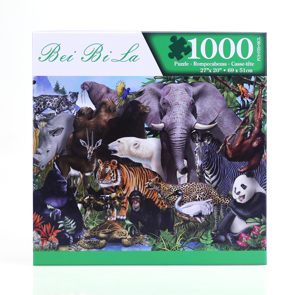 1000 piece Jigsaw Puzzle Animal World Puzzles For Adults Kids Learning Education