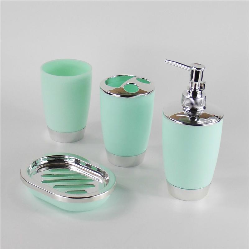 4pcs Set Plastic Bathroom Suit Bath Accessories Cup