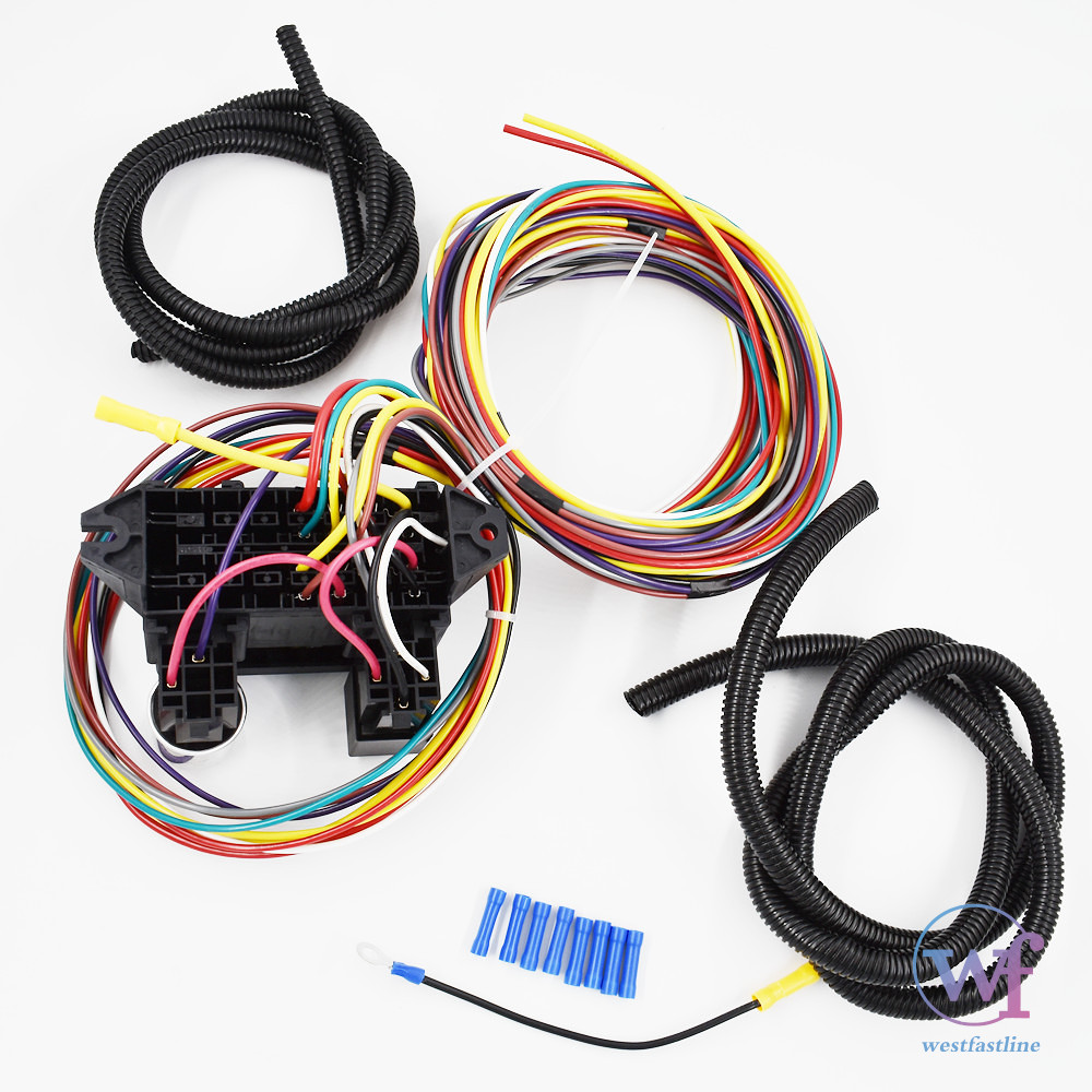 New 8 Circuit Universal Wire Harness Muscle Car Hot Rod Street Wiring For Rat