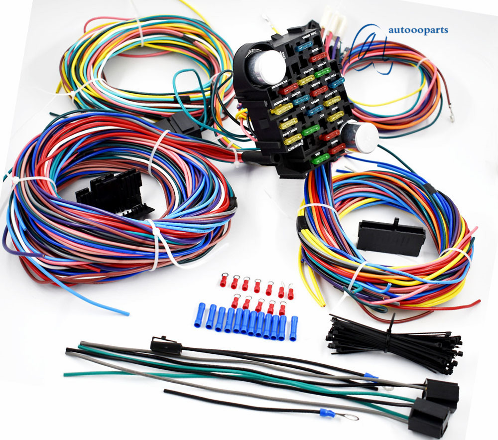 universal 21 circuit wiring harness for chevy mopar ford jeep rh ebay com