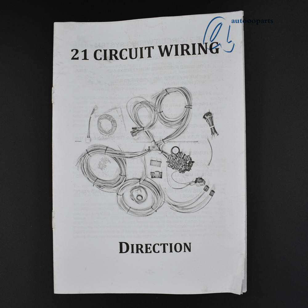 Universal 21 Circuit Wiring Harness For Chevy Mopar Ford Jeep To Hotrods